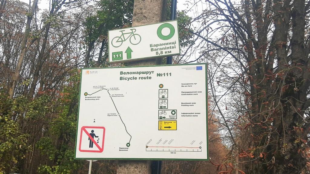 Značenie cyklotrás v meste Užhorod